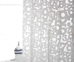NUMBERS CORT.BAÑO 180x200cm Reference: 1205630001 (Available)