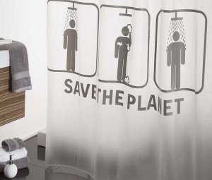 SAVE PLANET CORT.BAÑO 180x200cm Reference: 1206480001 (Available)